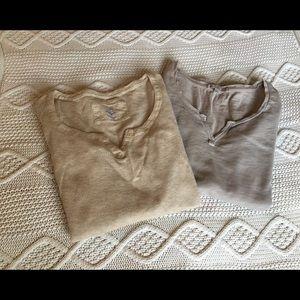Gap Maternity comfy long sleeve tee bundle size M